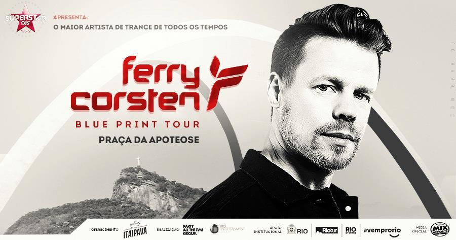 Ferry Corsten, um dos fenômenos da música trance, vem ao Rio
