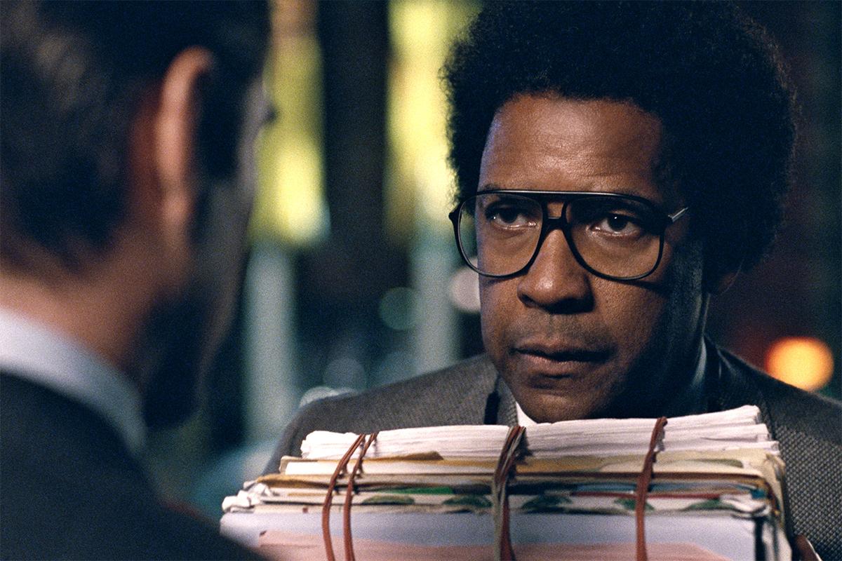 Denzel Washington em Roman J. Israel, Esq. Foto: Divulgação.