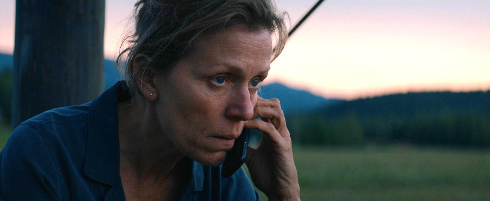 Frances McDormand em Três Anúncios para um Crime. Foto: Divulgação.
