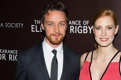 James McAvoy e Jessica Chastain. Foto: Divulgação.