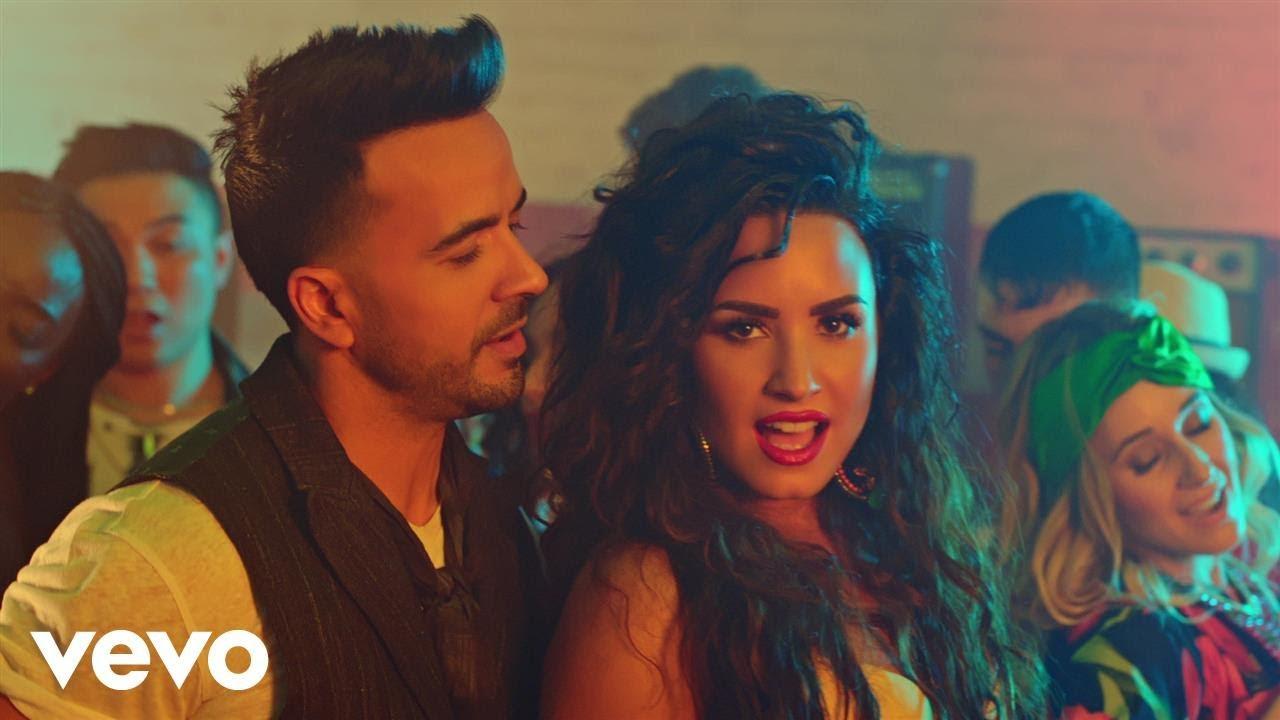 Luis Fonsi e Demi Lovato. Foto: Divulgação.