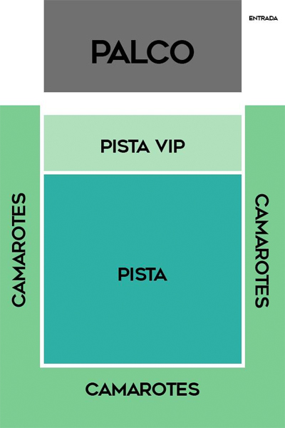 Mapa de Assentos do Carioca Club.