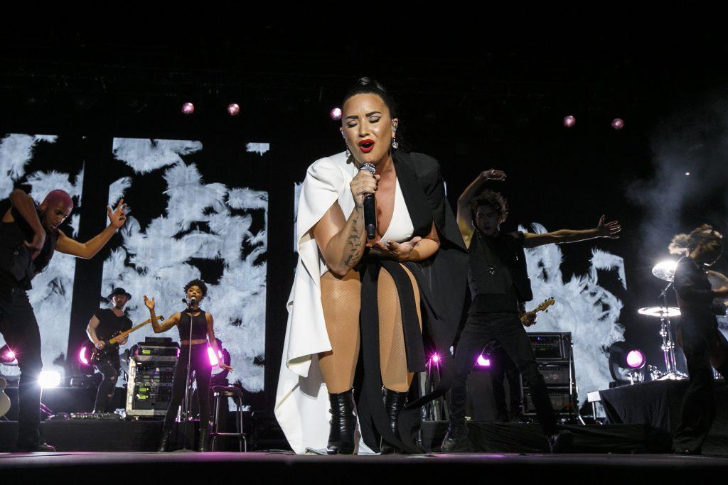 Rock In Rio - Lisboa 2018: Demi Lovato no Palco Mundo, na Cidade do Rock em Lisboa, Portugal, a 24 de Junho de 2018. Foto: Agência Zero