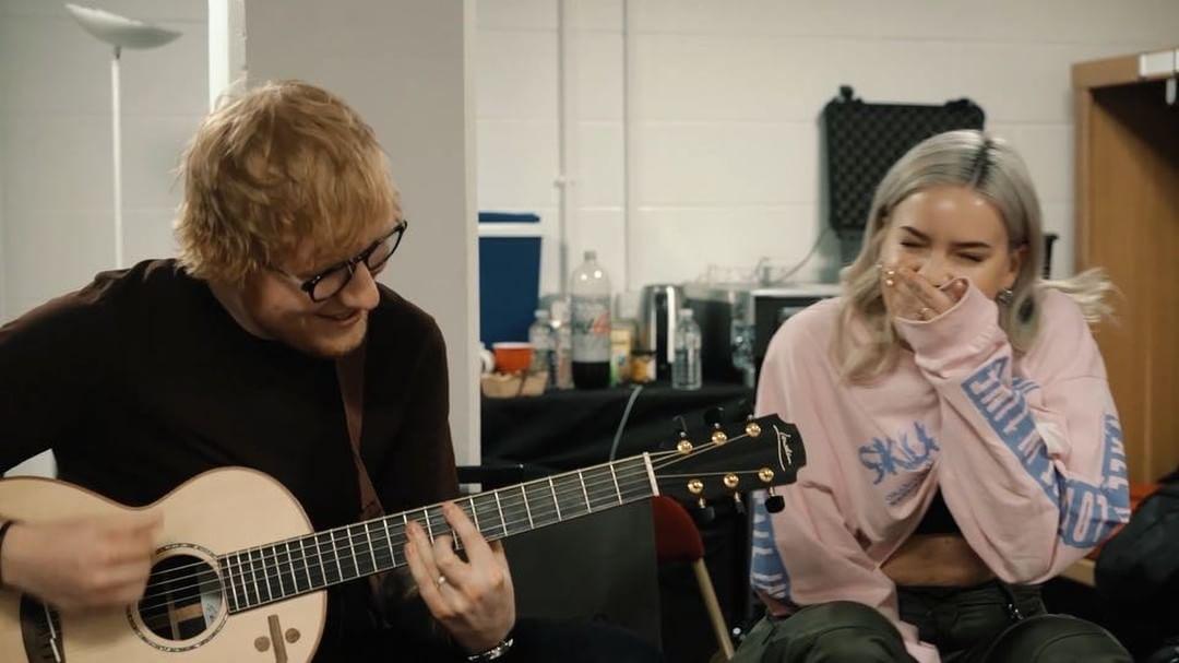 Anne-Marie e Ed Sheeran. Foto: Reprodução/Instagram (@annemarie)