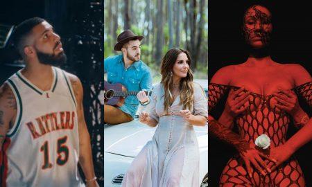 Drake, Ivete Sangalo e Iggy Azaelia. Foto: Reprodução/Instagram/Youtube/PopNow