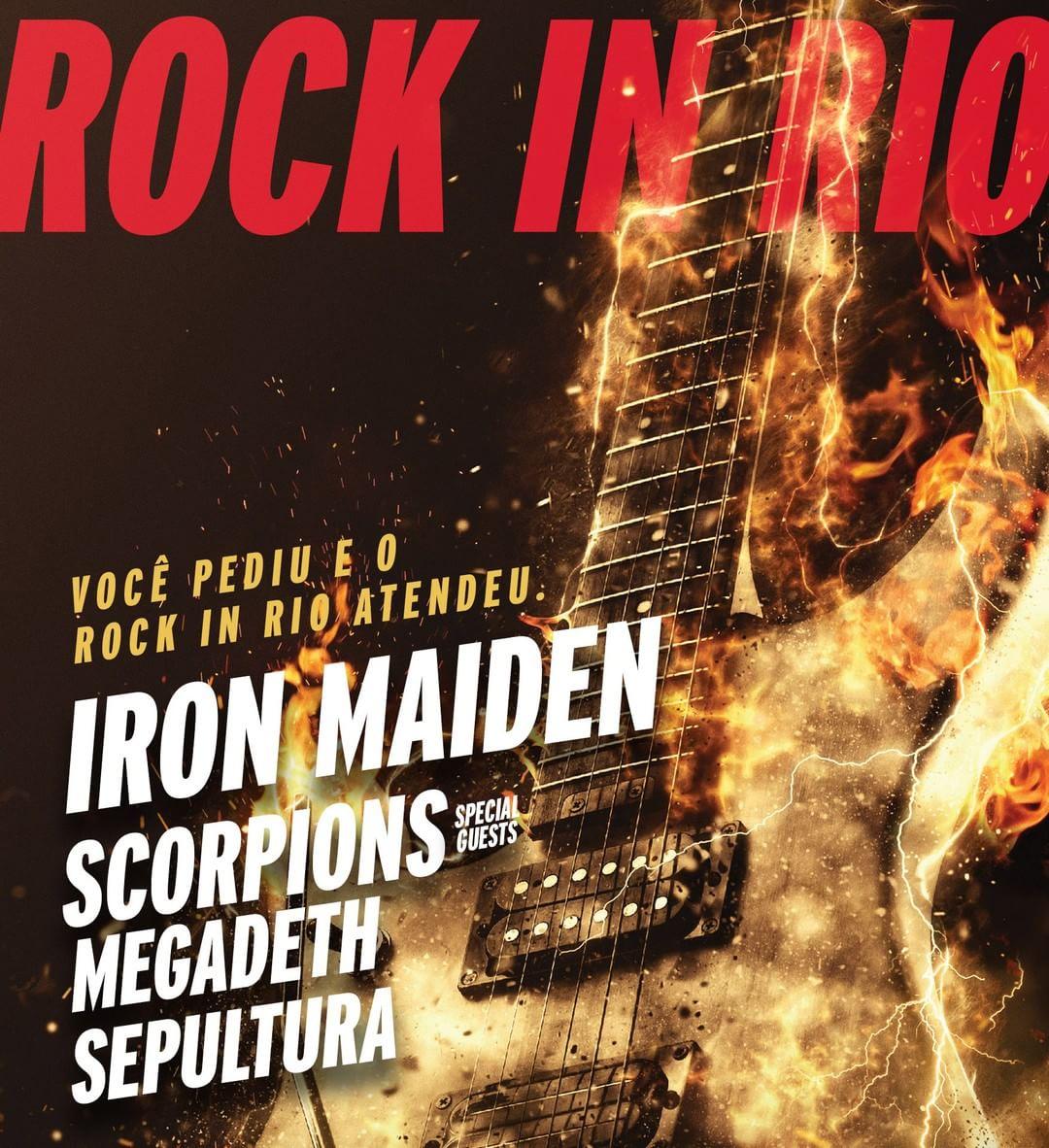 Rock in Rio. Foto: Reprodução/Instagram (@IronMaiden)
