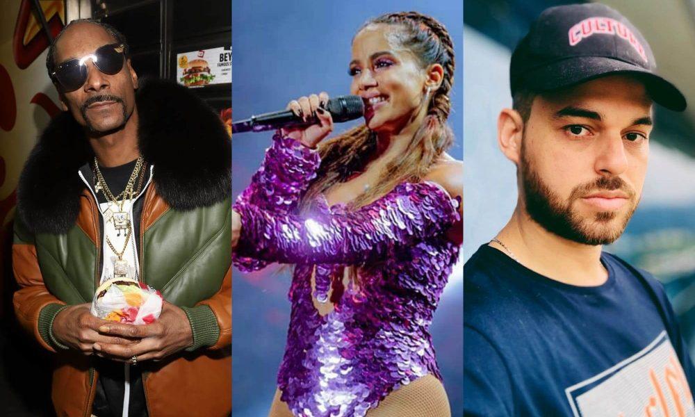 Snoop Dogg, Papatinho e Anitta. Foto: Reprodução/Instagram