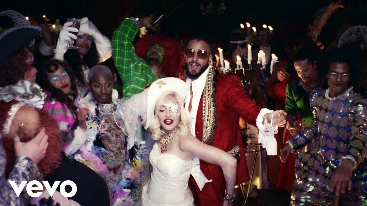 Madonna e Maluma. Foto: Reprodução/Youtube