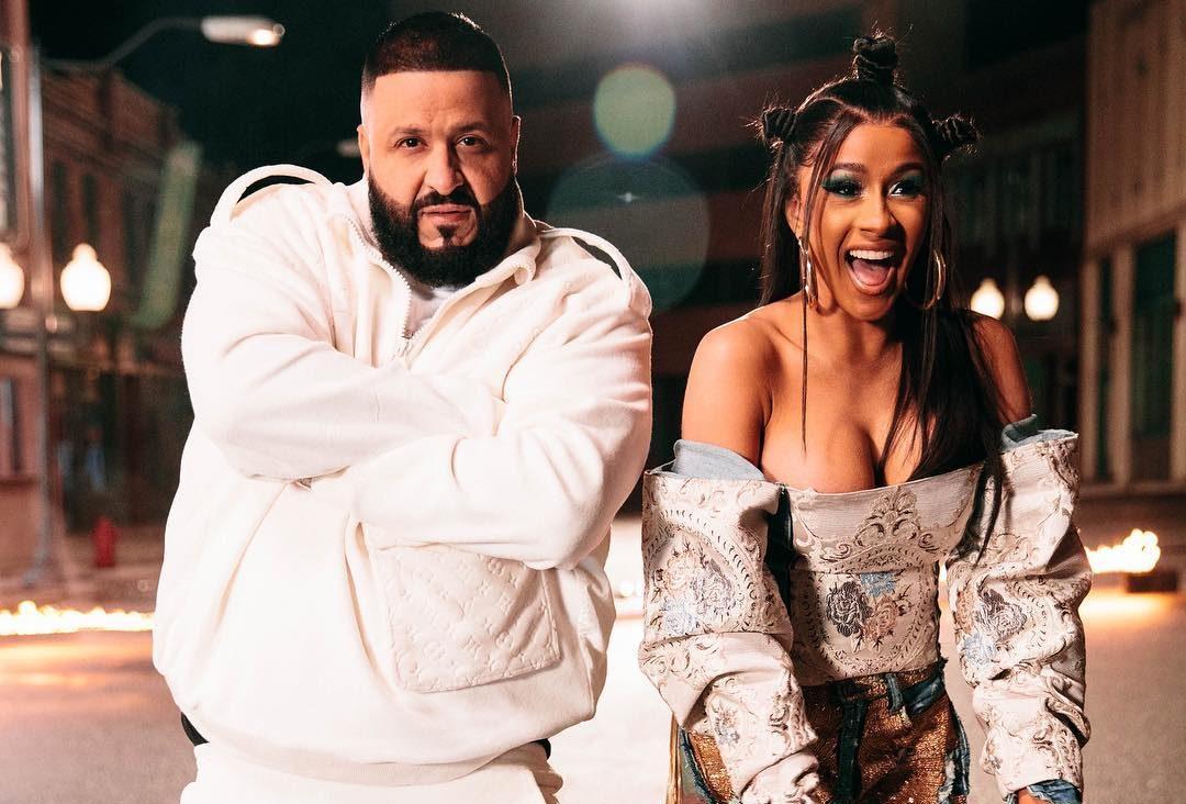 Cardi B e DJ Khaled. Foto: Reprodução/Instagram (@djkhaled)