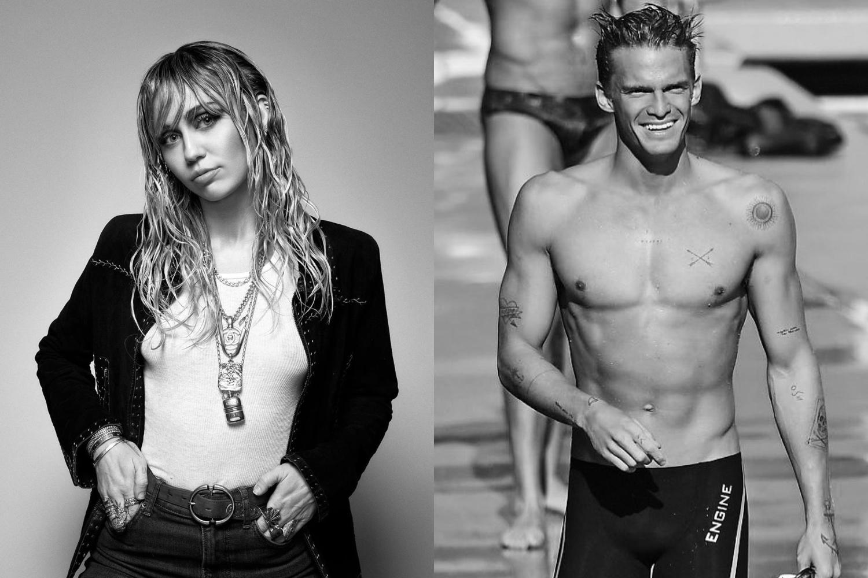 Miley Cyrus e Cody Simpson. Foto: Reprodução/Instagram/Colagem