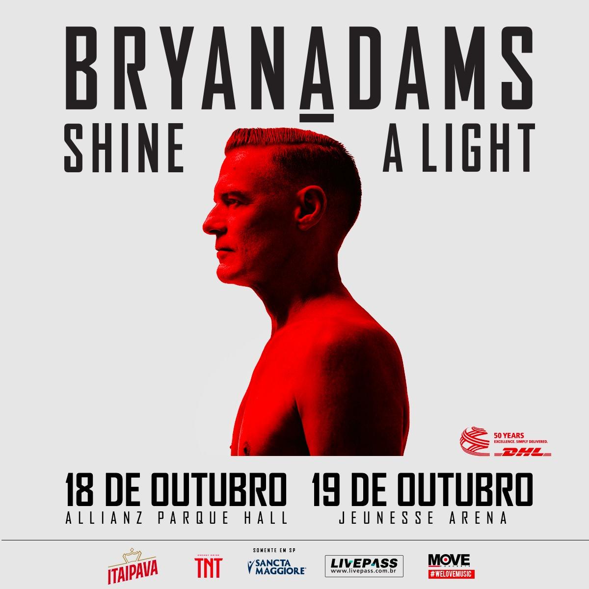 Bryan Adams. Foto: Divulgação