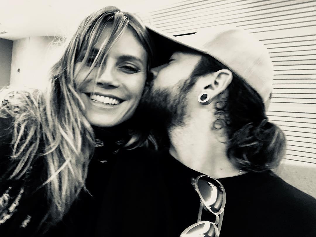 Heidi Klum e Tom Kaulitz. Foto: Reprodução/Instagram (@heidiklum)