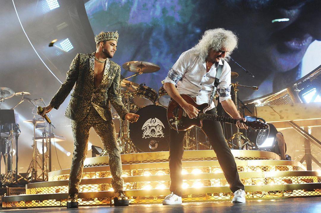 Queen + Adam Lambert. Foto: Reprodução / Instagram (@officialqueenmusic)