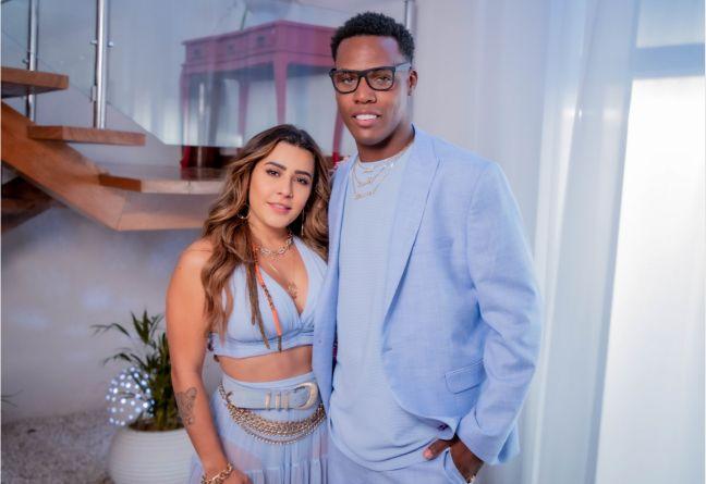 """Lauana Prado e Kekel nos bastidores do clipe de """"É Tão Bom"""" - crédito @suburbano"""