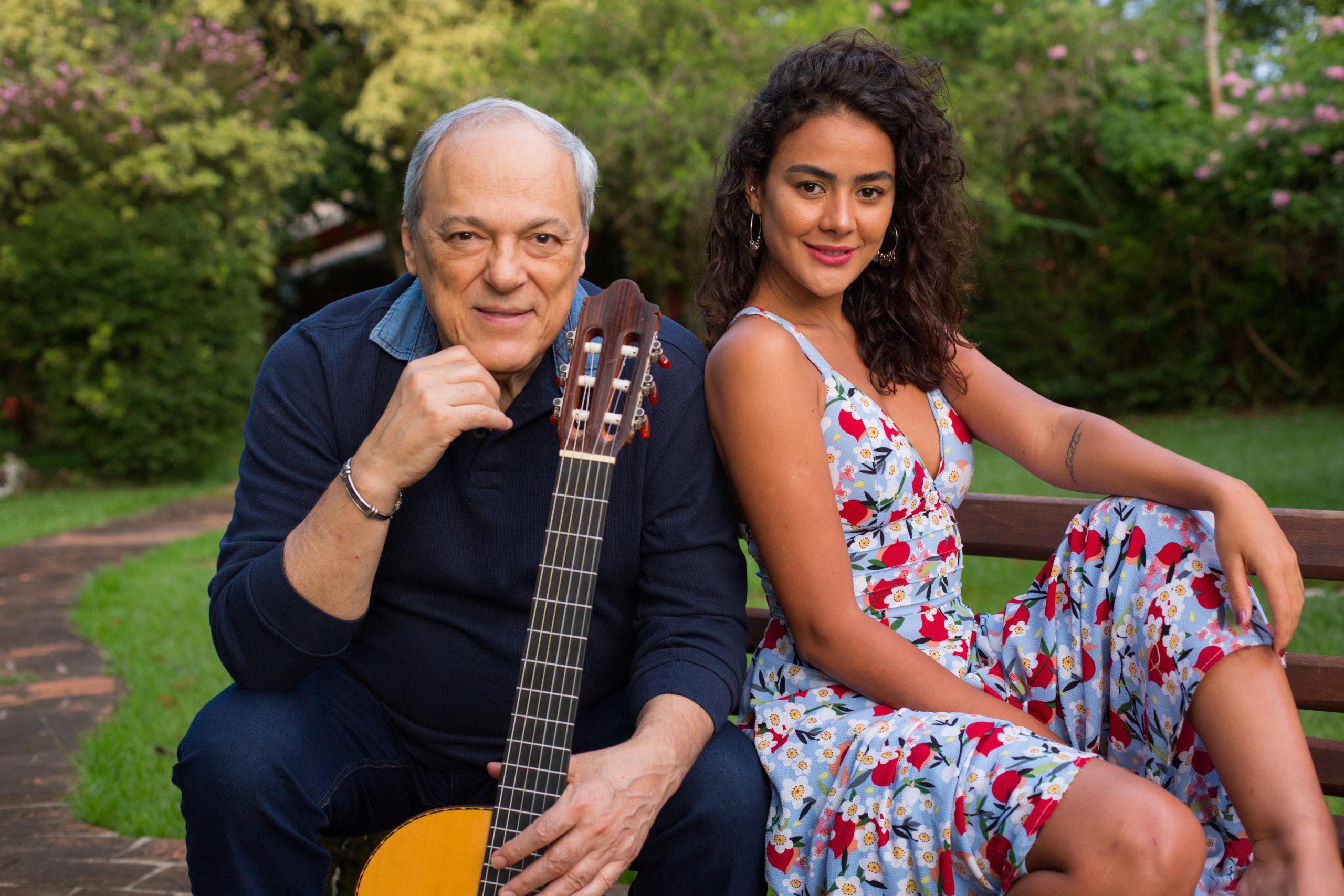 Toquinho e Camilla Faustino. Foto: Divulgação