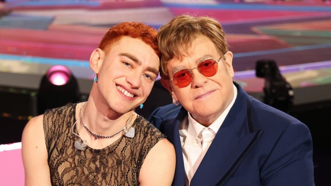 Elton John e Olly Alexander. Foto: Reprodução / Instagram (@eltonjohn)